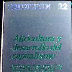 Libros de segunda mano: AGRICULTURA Y DESARROLLO DEL CAPITALISMO. - VV.AA.. Lote 173718790
