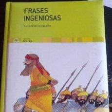 Libros de segunda mano: FRASES INGENIOSAS.. Lote 173737130