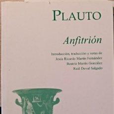Libros de segunda mano: ANFITRION. - PLAUTO.. Lote 173767740