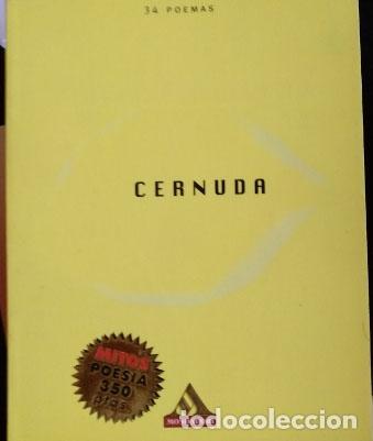 34 POEMAS. - CERNUDA, LUIS. (Libros de Segunda Mano (posteriores a 1936) - Literatura - Narrativa - Otros)