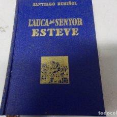 Libros de segunda mano: L'AUCA DEL SENYOR ESTEVE SANTIAGO RUSIÑOL + AUCA DESPLEGABLE DIBUIX RAMON CASAS, TEXT GABRIEL ALOMAR. Lote 174254429