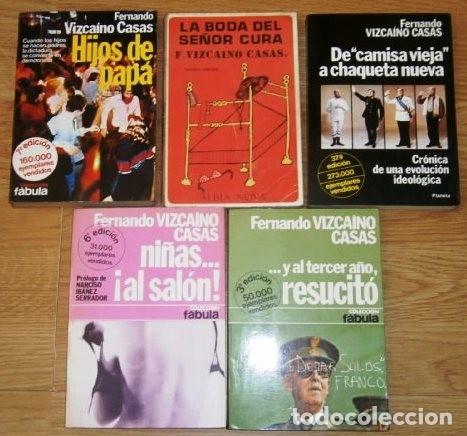 LOTE 5 LIBROS DISTINTOS DE FERNANDO VIZCAÍNO CASAS DE EDITORIAL PLANETA DE BARCELONA (DÉCADA 1970) (Libros de Segunda Mano (posteriores a 1936) - Literatura - Narrativa - Otros)