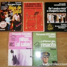 Libros de segunda mano: LOTE 5 LIBROS DISTINTOS DE FERNANDO VIZCAÍNO CASAS DE EDITORIAL PLANETA DE BARCELONA (DÉCADA 1970). Lote 175362940