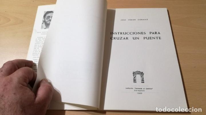Libros de segunda mano: CANTOS DE TIERRA Y VERSO - JOSE VERON GORMAZ - DEDICATORIA AUTOGRAFA - INSTITUCION FERNADO EL CATOLI - Foto 6 - 175545207
