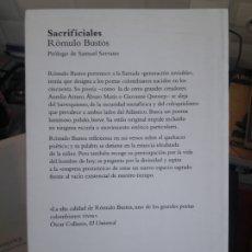 Libros de segunda mano: SACRIFICIALES RÓMULO BUSTOS ED. PROMOLIBRO 2015. Lote 175658583