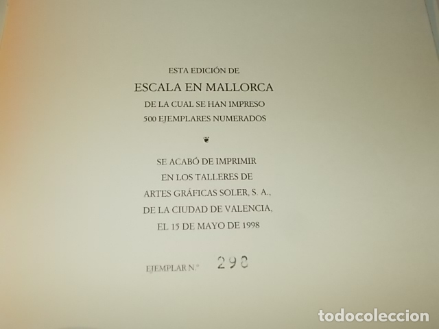 Libros de segunda mano: ESCALA EN MALLORCA. JULIO VERNE . PALMA DE MALLORCA. 1ª EDICIÓN 1998. EDICIÓN LIMITADA Y NUMERADA - Foto 17 - 175674269