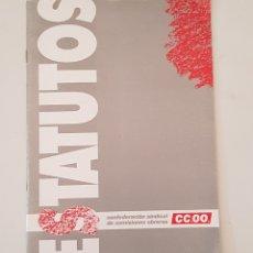Libros de segunda mano: ESTATUTOS CCOO - TDK357. Lote 175871375