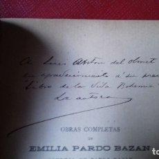 Libros de segunda mano: OBRAS DE LUIS ANTÓN DEL OLMET - EMILIA PARDO BAZÁN, MI RISA - TERRA MADRE- TIERRA DE PROMISIÓN. CON. Lote 175924583
