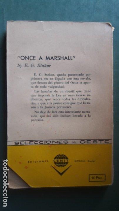 Libros de segunda mano: MARSHAL JUSTICIERO. (E.G. Stokoe). Muy escaso - Foto 2 - 175943739