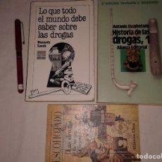 Libros de segunda mano: LOTE DE 3 LIBROS, 2 DE ANTONIO ESCOHOTADO, 1 DE KENNETH LEECH. Lote 176165579