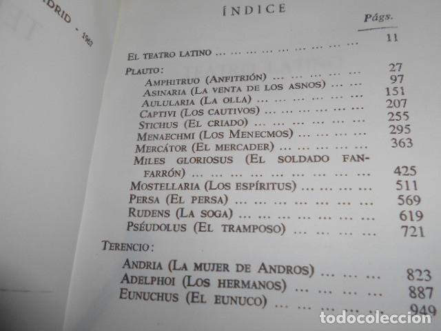 Libros de segunda mano: TEATRO LATINO / PLAUTO TERENCIO - Foto 2 - 176257963