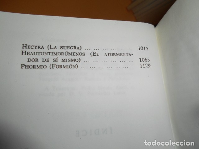 Libros de segunda mano: TEATRO LATINO / PLAUTO TERENCIO - Foto 3 - 176257963