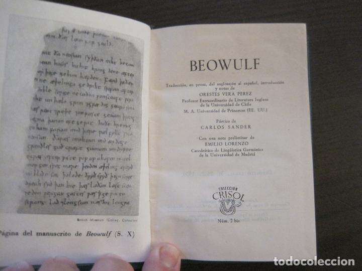 BEOWULF-COL·CRISOL NUM·2 BIS-1ª EDICION 1959-AGUILAR-VER FOTOS-(V-17.584) (Libros de Segunda Mano (posteriores a 1936) - Literatura - Narrativa - Otros)