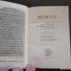 Libros de segunda mano: BEOWULF-COL·CRISOL NUM·2 BIS-1ª EDICION 1959-AGUILAR-VER FOTOS-(V-17.584). Lote 176278489