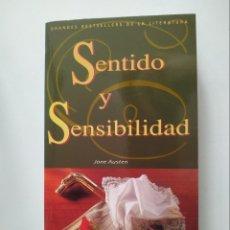 Libros de segunda mano: SENTIDO Y SENSIBILIDAD, JANE AUSTEN, GRUPO CORREO, AÑO 1996, 412 PAGINAS, TAPA BLANDA. Lote 176457162