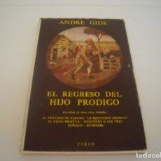 Libros de segunda mano: EL REGRESO DEL HIJO PRODIGO TIRSO. Lote 176976253