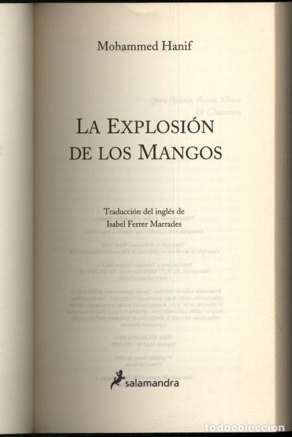 Libros de segunda mano: LA EXPLOSION DE LOS MANGOS.- Mohammed Anif - Foto 2 - 176997920