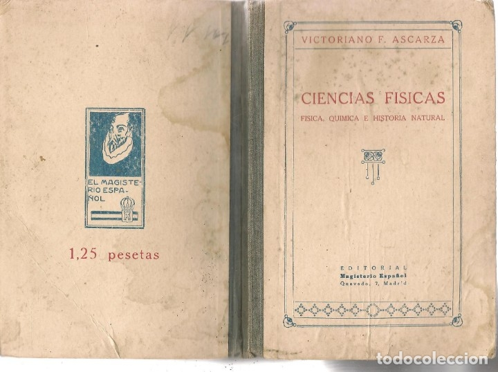 Libros de segunda mano: CIENCIAS FÍSICAS. FÍSICA, QUÍMICA E HISTORIA NATURAL. V. F. ASCARZA. MAGISTERIO ESPAÑOL, 1931. (Z/32 - Foto 2 - 177185335