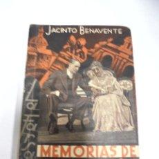 Libros de segunda mano: NOVELA. LA FARSA. MEMORIAS DE UN MADRILEÑO. JACINTO BENAVENTE. Nº 386. MADRID. Lote 177873877