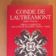 Libros de segunda mano: CONDE DE LAUTRÉAMONT. OBRAS COMPLETAS / 1979. ARGONAUTA. Lote 178122932