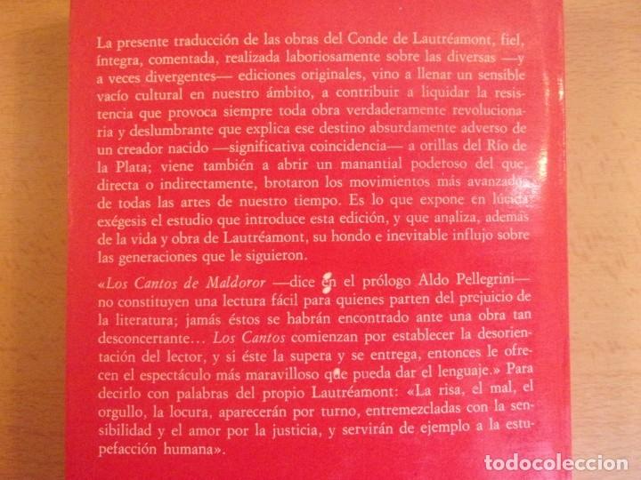 Libros de segunda mano: CONDE DE LAUTRÉAMONT. OBRAS COMPLETAS / 1979. ARGONAUTA - Foto 2 - 178122932