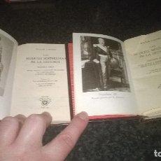 Libros de segunda mano: 337-LAS MUERTES MISTERIOSAS DE LA HISTORIA, DOCTOR CABANES, CRISOL 337 Y 338. Lote 178734802