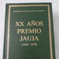 Libros de segunda mano: XX AÑOS DE PREMIOS JAUJA. (1960-1979). VALLADOLID, 1980. ED. GRUPO PINCIANO.. Lote 178872861