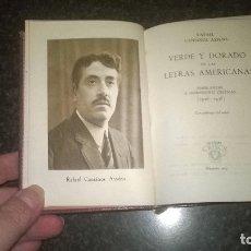 Libros de segunda mano: 205-VERDE Y DORADO EN LAS LETRAS AMERICANAS, RAFAEL CANSINOS ASSENS, CRISOL 205. Lote 178912635
