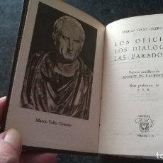 Libros de segunda mano: 116-LOS OFICIOS, MARCO T. CICERON, CRISOL 116 . Lote 179118345