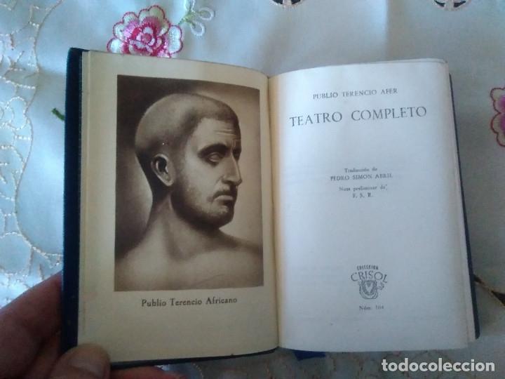 Libros de segunda mano: 104-TEATRO COMPLETO, Publio Terencio Africano, crisol 104 - Foto 2 - 179118427