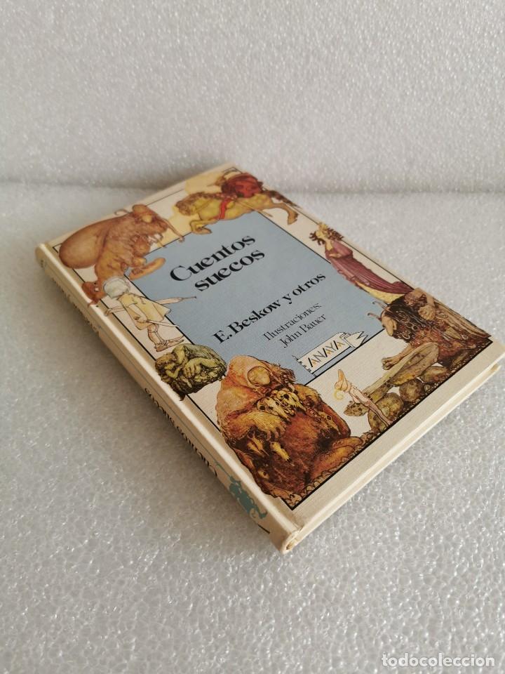 CUENTOS SUECOS LIBRO E BESKOW Y OTROS ILUSTRADO POR JOHN BAUER - ANAYA AÑOS 80 - TROLLS GNOMO - JOYA (Libros de Segunda Mano (posteriores a 1936) - Literatura - Narrativa - Otros)