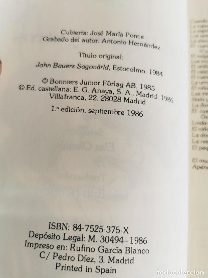 Libros de segunda mano: CUENTOS SUECOS LIBRO E BESKOW Y OTROS ILUSTRADO POR JOHN BAUER - ANAYA AÑOS 80 - TROLLS GNOMO - JOYA - Foto 5 - 179386572