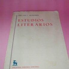 Libros de segunda mano: LIBRO-ESTUDIOS LITERARIOS-JOSÉ LUÍS LÓPEZ ARANGUREN-EDITORIAL GREDOS-1976-343 PÁGINAS+INDICE. Lote 179554257