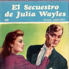 Libros de segunda mano: EL SECUESTRO DE JULIA WALES. PETER CHEYNEY. COLECCION RASTROS.1944. 188 PAGINAS.. Lote 180090586