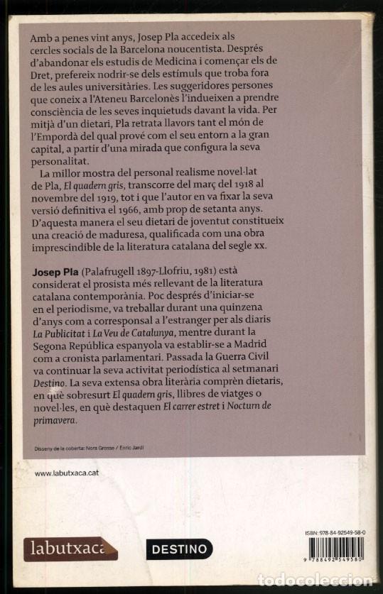 Libros de segunda mano: EL QUADERN GRIS - Josep PLA. - Foto 4 - 180246743