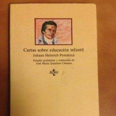 Libros de segunda mano: CARTAS SOBRE EDUCACIÓN INFANTIL - JOHAM HEINRICH PESTALOZZI - COLECCION CLASICOS DEL PENSAMIENTO. Lote 180902623
