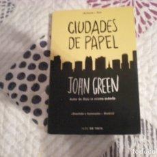 Libros de segunda mano: CIUDADES DE PAPEL;JOHN GREEN;NUBE DE TINTA 2014. Lote 181496412