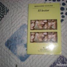 Libros de segunda mano: EL LECTOR;BERNHARD SCHLINK;ANAGRAMA 2009. Lote 182038075