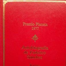 Libros de segunda mano: JORGE SEMPRÚN: AUTOBIOGRAFÍA DE FEDERICO SÁNCHEZ. Lote 182071711
