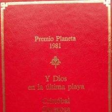 Libros de segunda mano: CRISTÓBAL ZARAGOZA: Y DIOS EN LA ÚLTIMA PLAYA. Lote 182071893