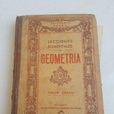 Libros de segunda mano: LECCIONES ELEMENTALES DE GEOMETRÍA. Lote 182841598