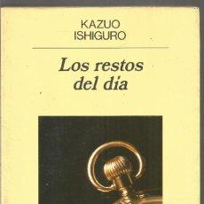Libros de segunda mano: KAZUO ISHIGURO. LOS RESTOS DEL DIA. ANAGRAMA. Lote 183477901
