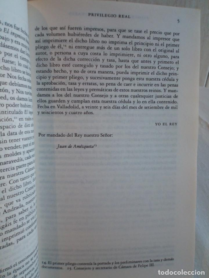 Libros de segunda mano: 236-DON QUIJOTE DE LA MANCHA, Miguel de Cervantes, edicion del IV centenario, 2004 - Foto 7 - 183625277