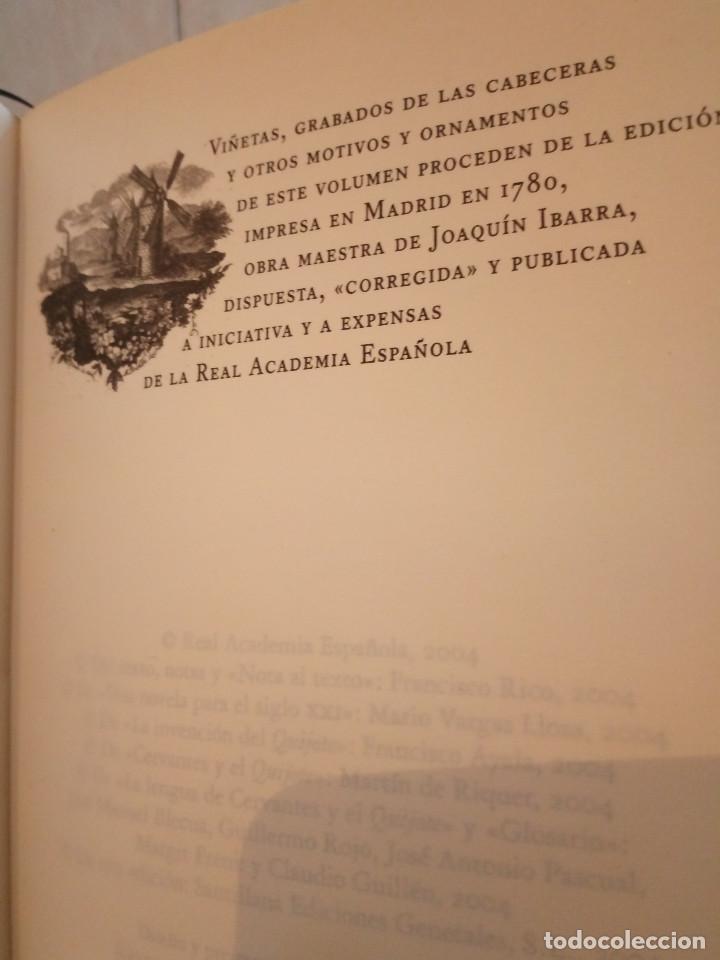 Libros de segunda mano: 236-DON QUIJOTE DE LA MANCHA, Miguel de Cervantes, edicion del IV centenario, 2004 - Foto 9 - 183625277