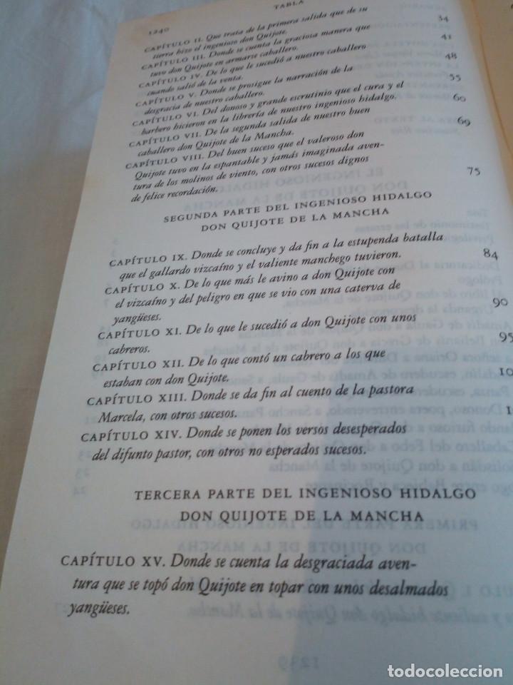 Libros de segunda mano: 236-DON QUIJOTE DE LA MANCHA, Miguel de Cervantes, edicion del IV centenario, 2004 - Foto 11 - 183625277