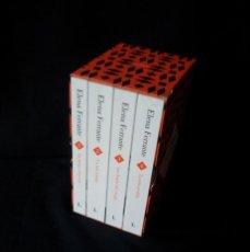 Libros de segunda mano: ELENA FERRANTE - SAGA DOS AMIGAS COMPLETA (4 LIBROS), ESTUCHE CONTENEDOR - EDICIONES LUMEN 2017. Lote 183632265