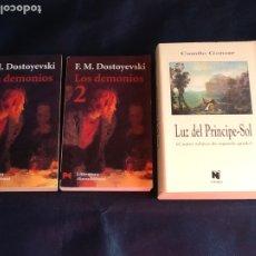 Libros de segunda mano: LOS DEMONIOS. FIODOR DOSTOIEVSKI + LUZ DEL PRINCIPE-SOL. CAMILO GONSAR. Lote 183962768