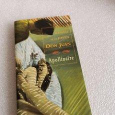 Libros de segunda mano: APOLLINAIRE / LAS HAZAÑAS DE UN JOVEN DON JUAN ED. VALDEMAR. Lote 184020798