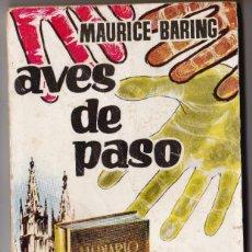 Libros de segunda mano: AVES DE PASO. CLASICOS PLAZA. Nº188. . Lote 184241185