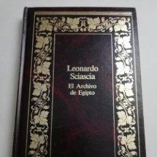 Libros de segunda mano: EL ARCHIVO DE EGIPTO (LEONARDO SCIASCIA) SEIX BARRAL. Lote 184356567